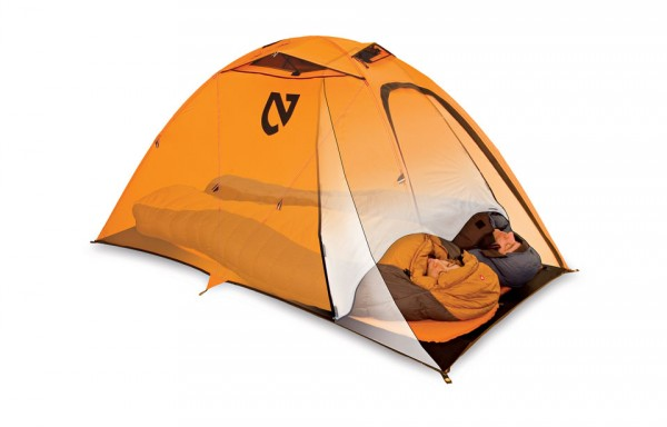 The Condensation Curtain™ helps keep moisture created by normal breathing contained in a small portion of the tent. The curtain has a tieback loop for easy stowage when not in use.